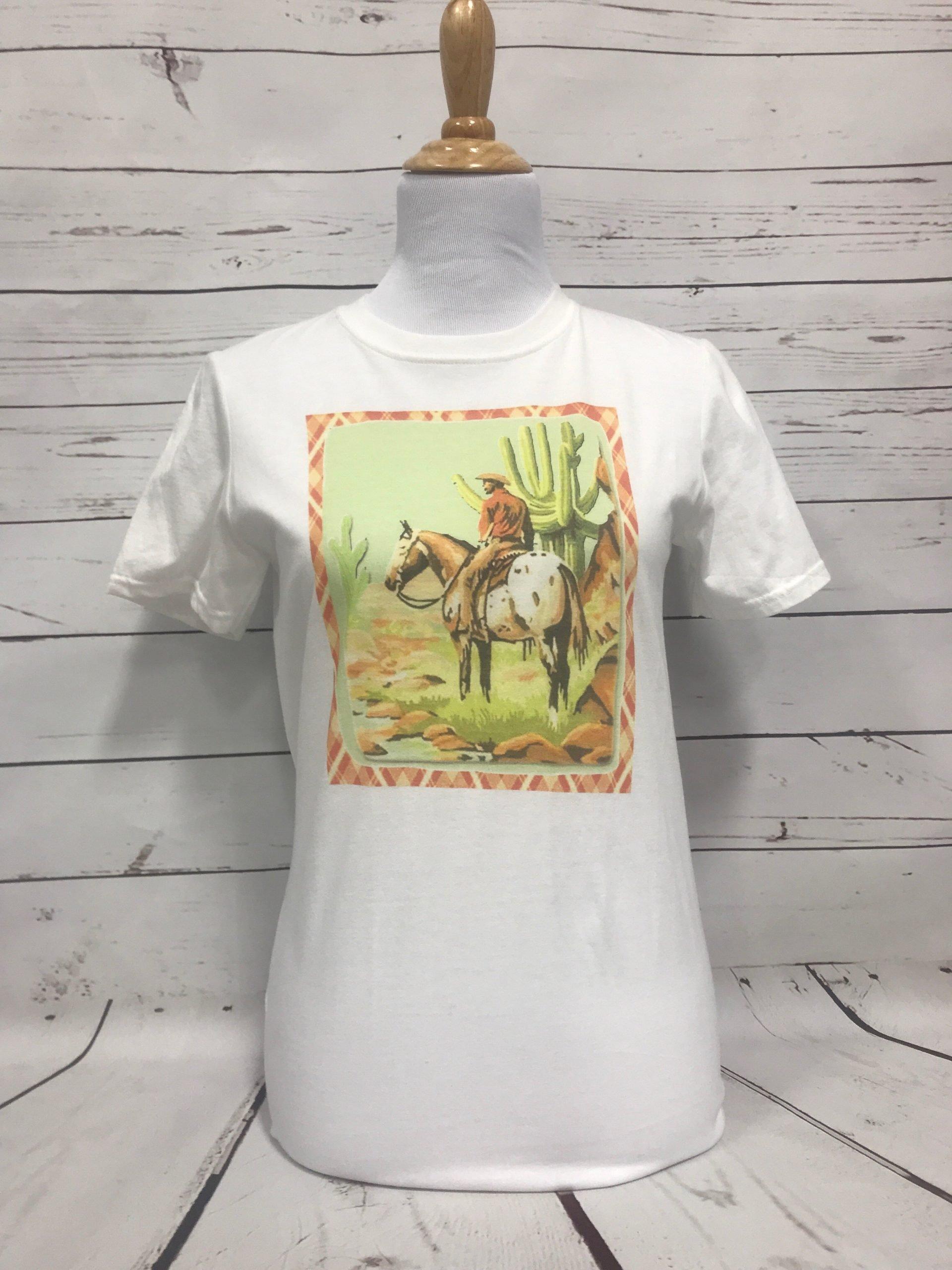 Plaid Cowboy White Tultex