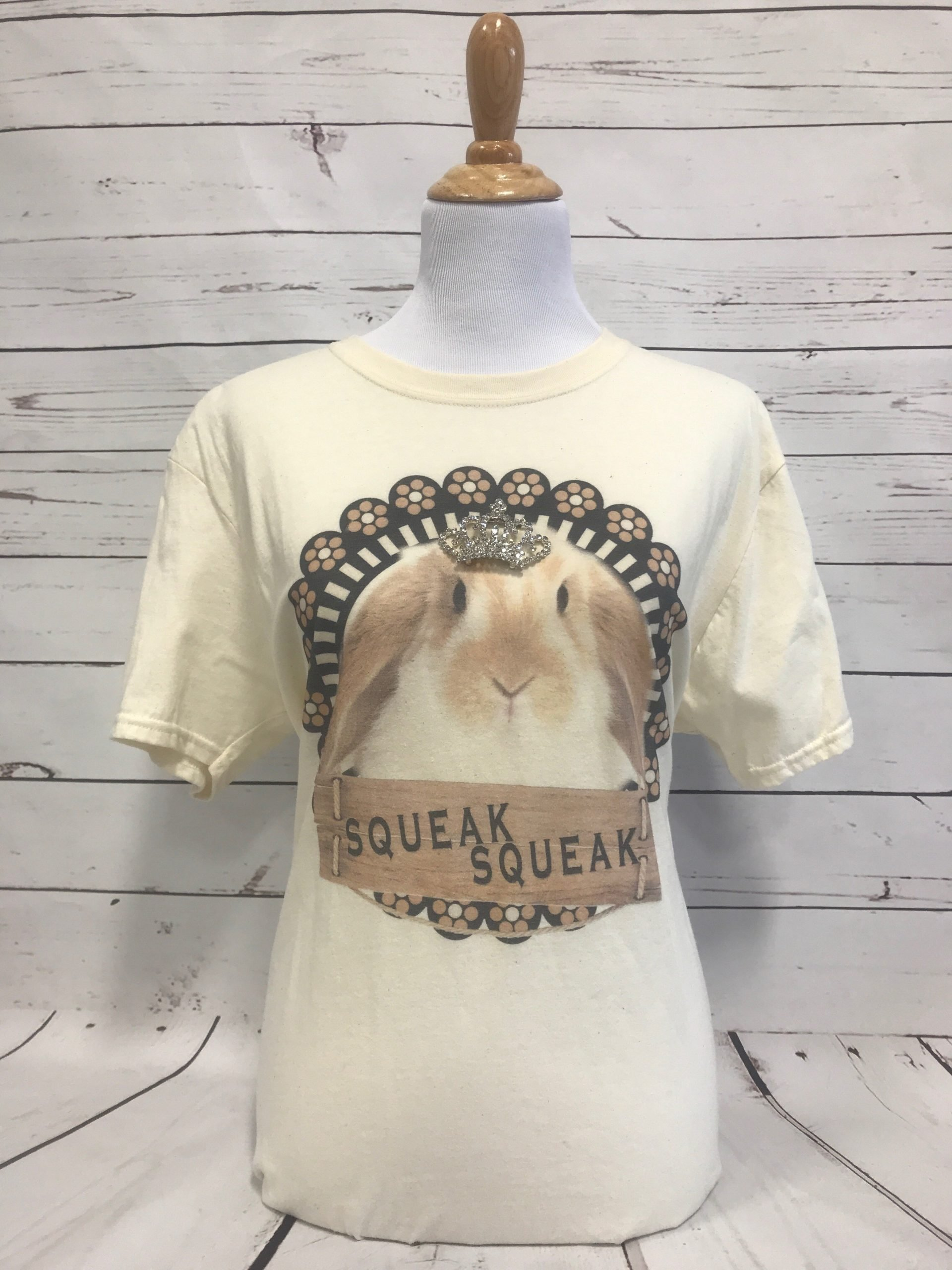 Rabbit with Removable Crown Cream Unisex
