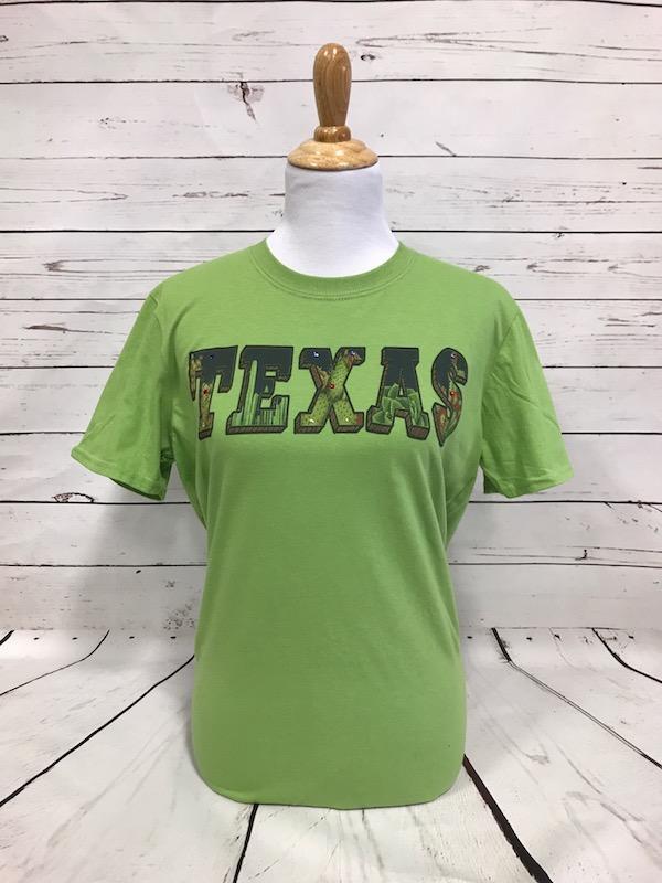 Texas Cactus Leaf Green Tee