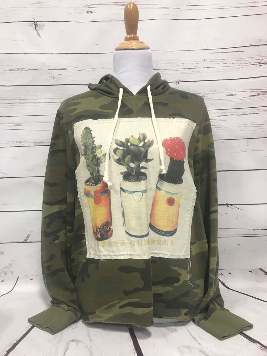 Three Compadres Patch Camo French Terry Day Off Hoodie