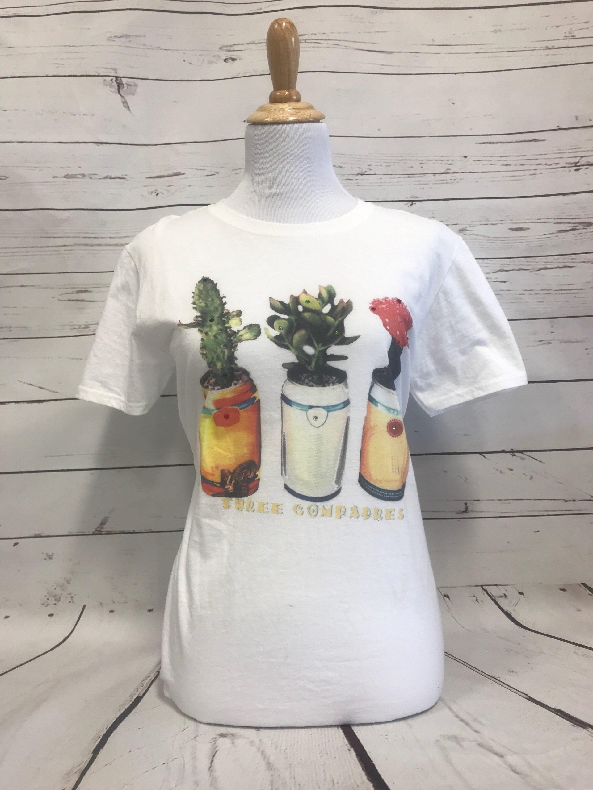 Three Compadres Cactus White Tultex