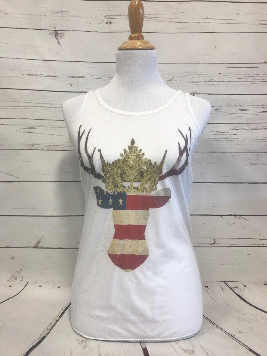 USA Deer White NL Tank
