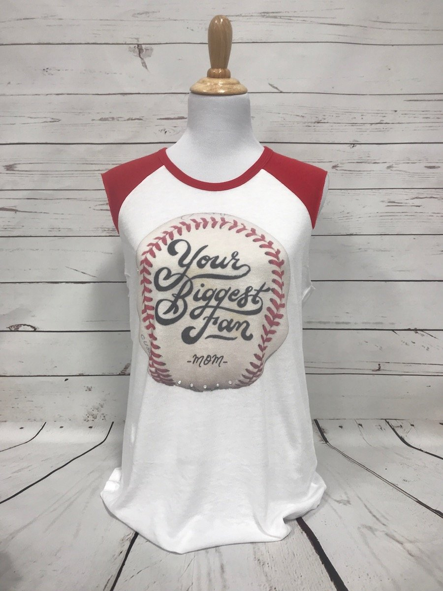 Your Biggest Fan Red AA Team Player Tee