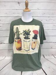 Three Compadres on Cream Patch on Heather Military Softstyle Tee