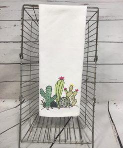 Cactus Scene Tea Towel