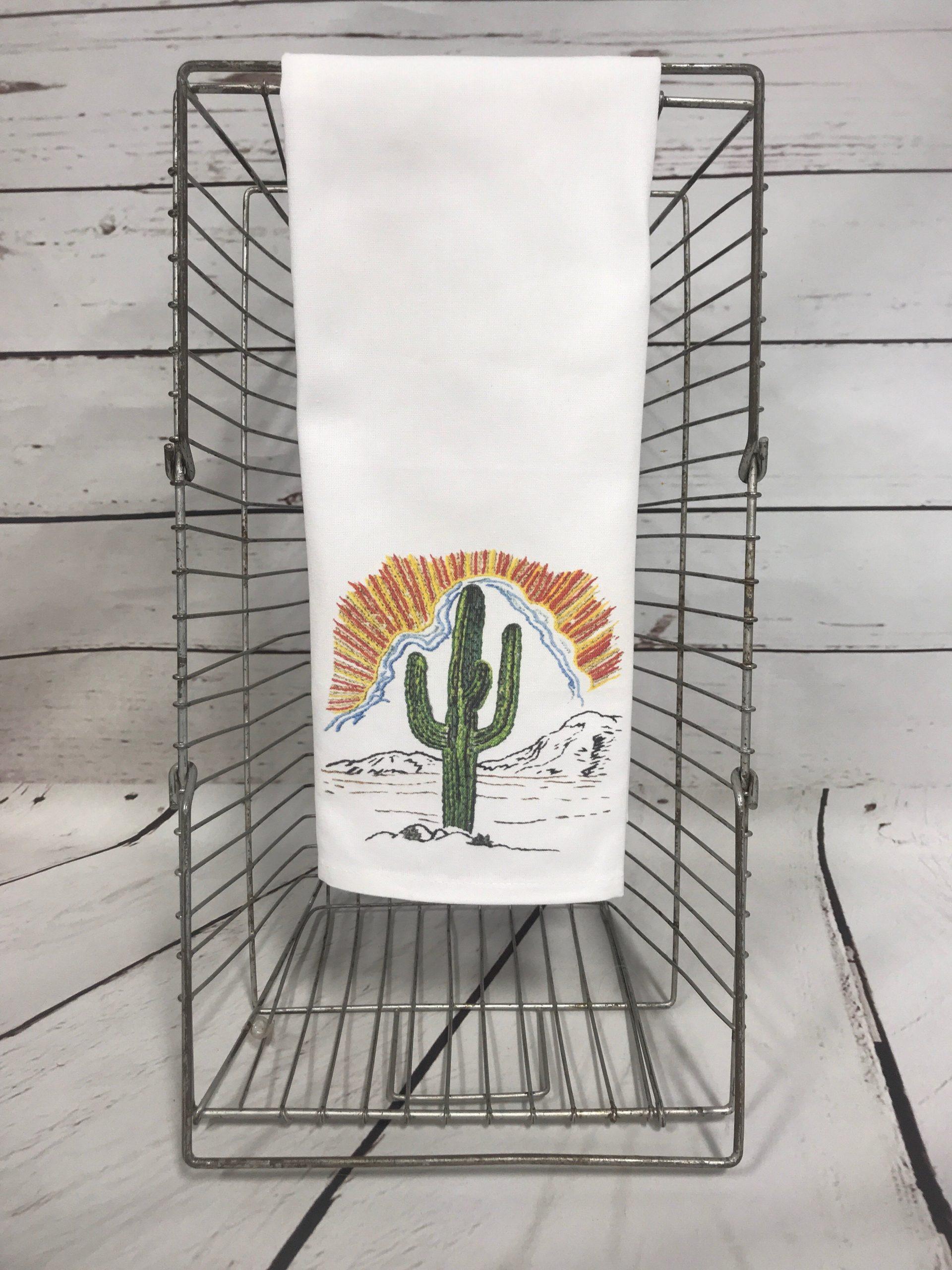 Cactus Sunrise Tea Towel