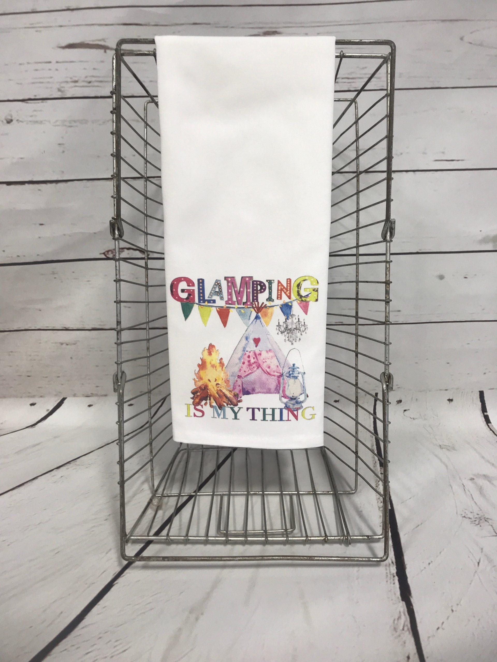 Glamping Tea Towel
