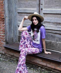 Summer Indian Purple White Patch Unisex
