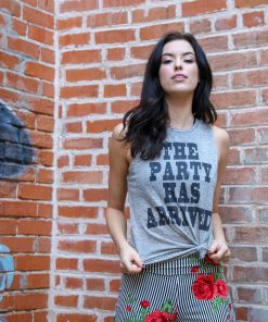 The Party Has Arrived Vintage Back Muscle Tank