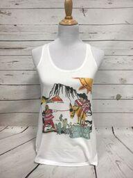 Lost Highway on White Flowy Tank