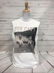 You Can't Float With Us White Muscle Tank