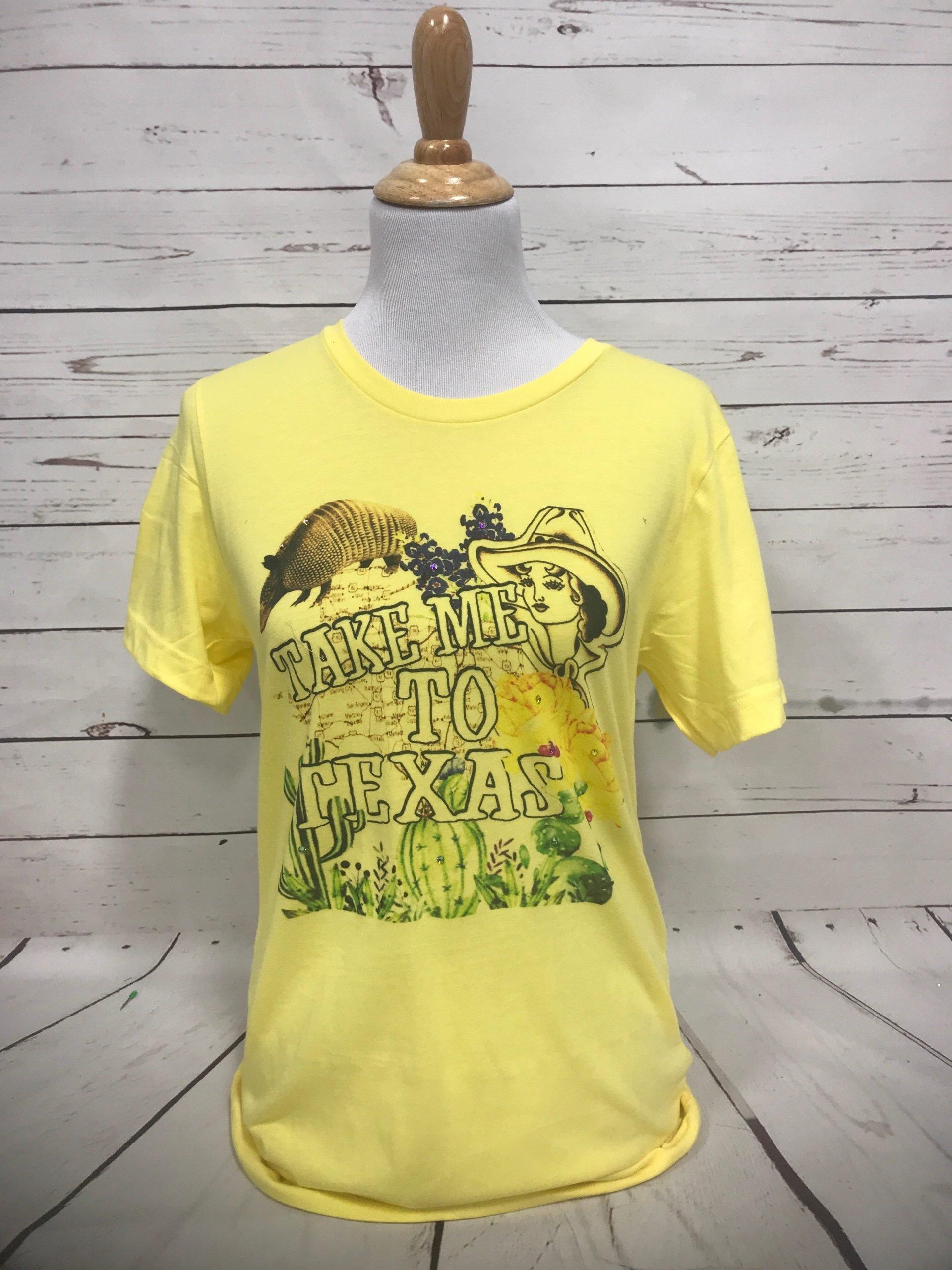 Take Me To Texas Yellow Tultex