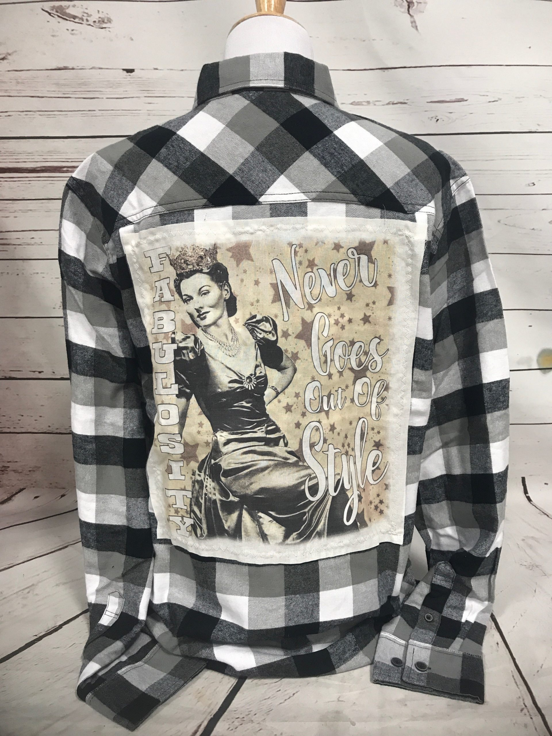 Fabulosity Never Goes Out of Style Black & White Flannel