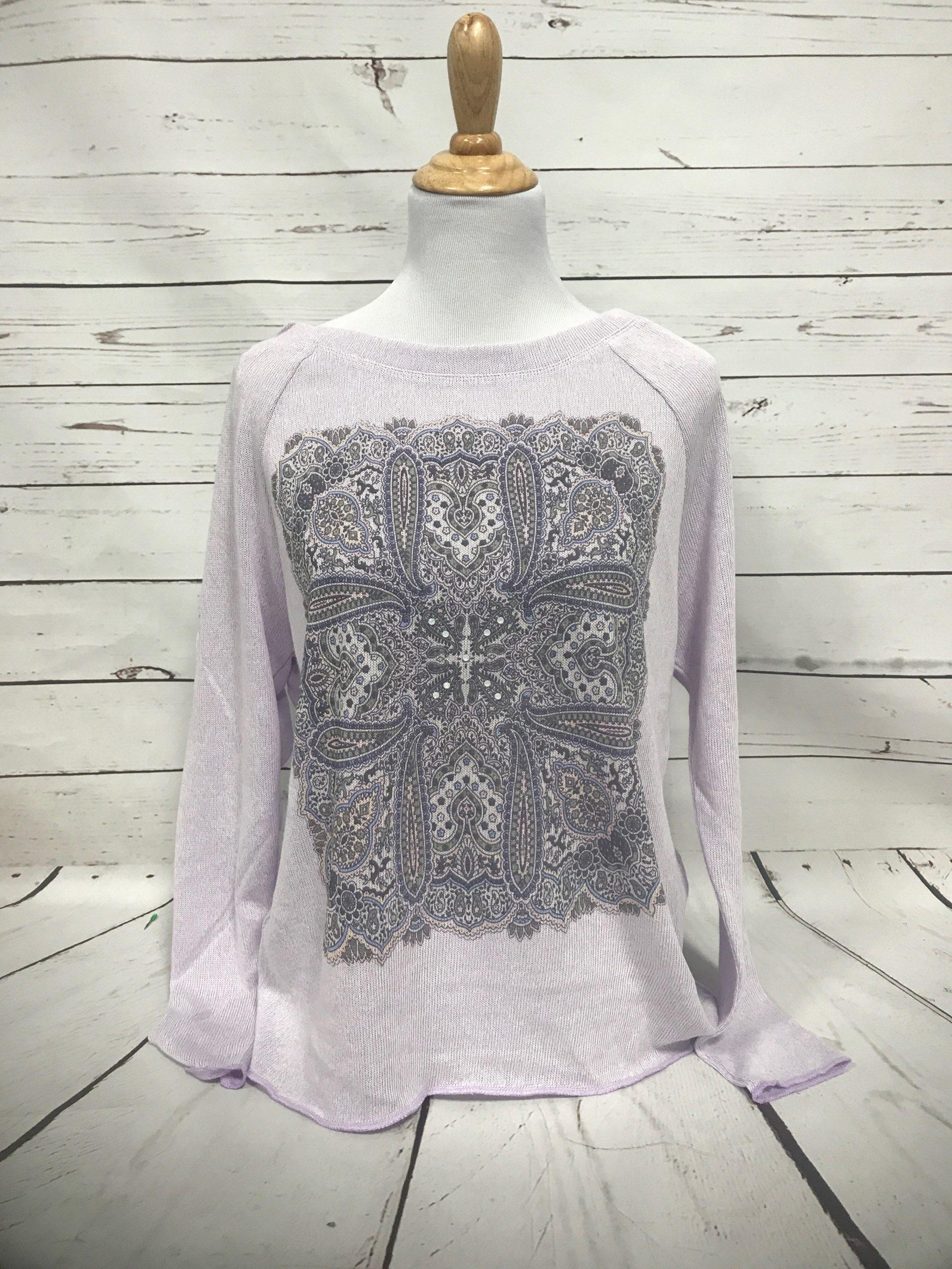 Sicily Long Sleeve Sport Gauze Sweater