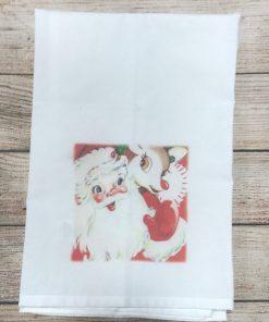 Santa and Rudolph Tea Towel