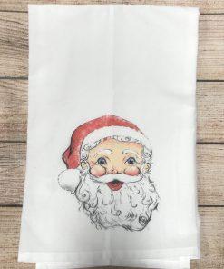 Santa Tody Tea Towel No Poms