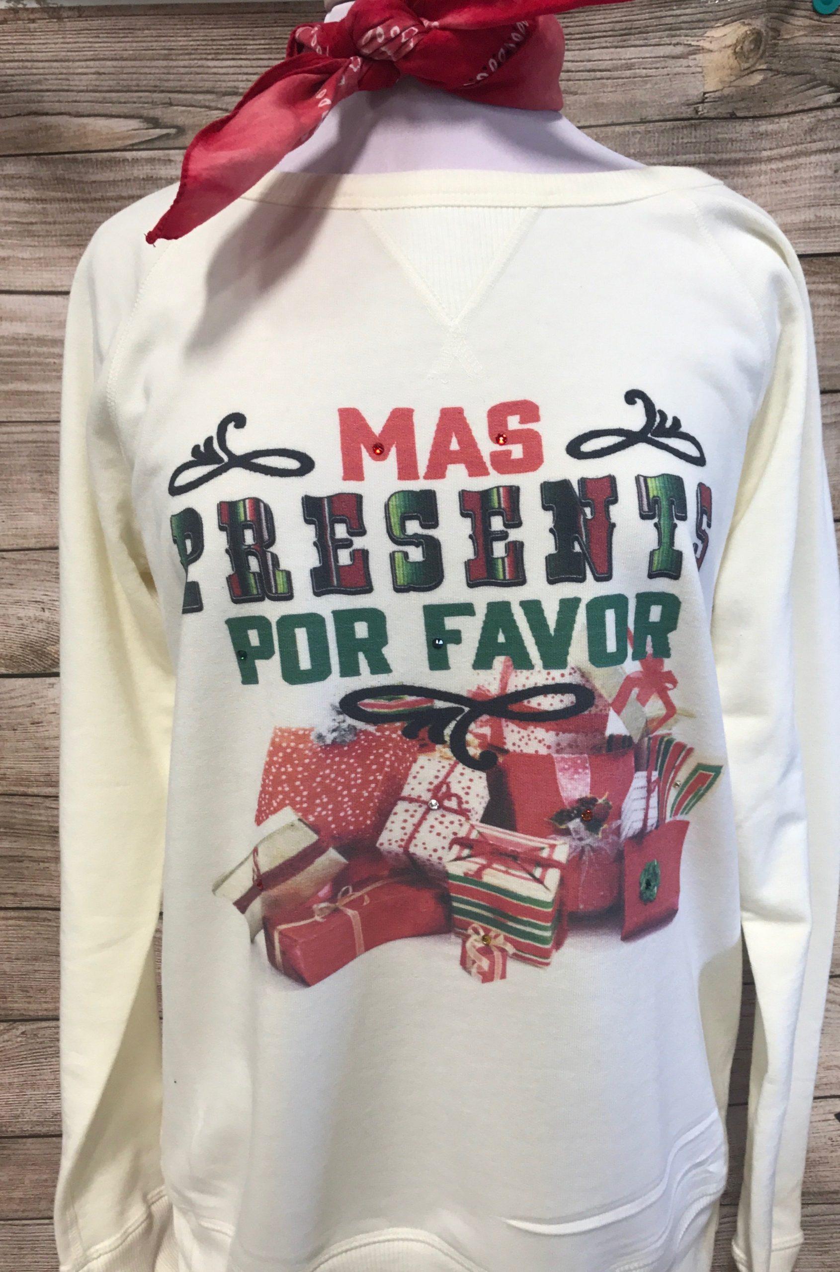 Mas Presents on Cream Pullover