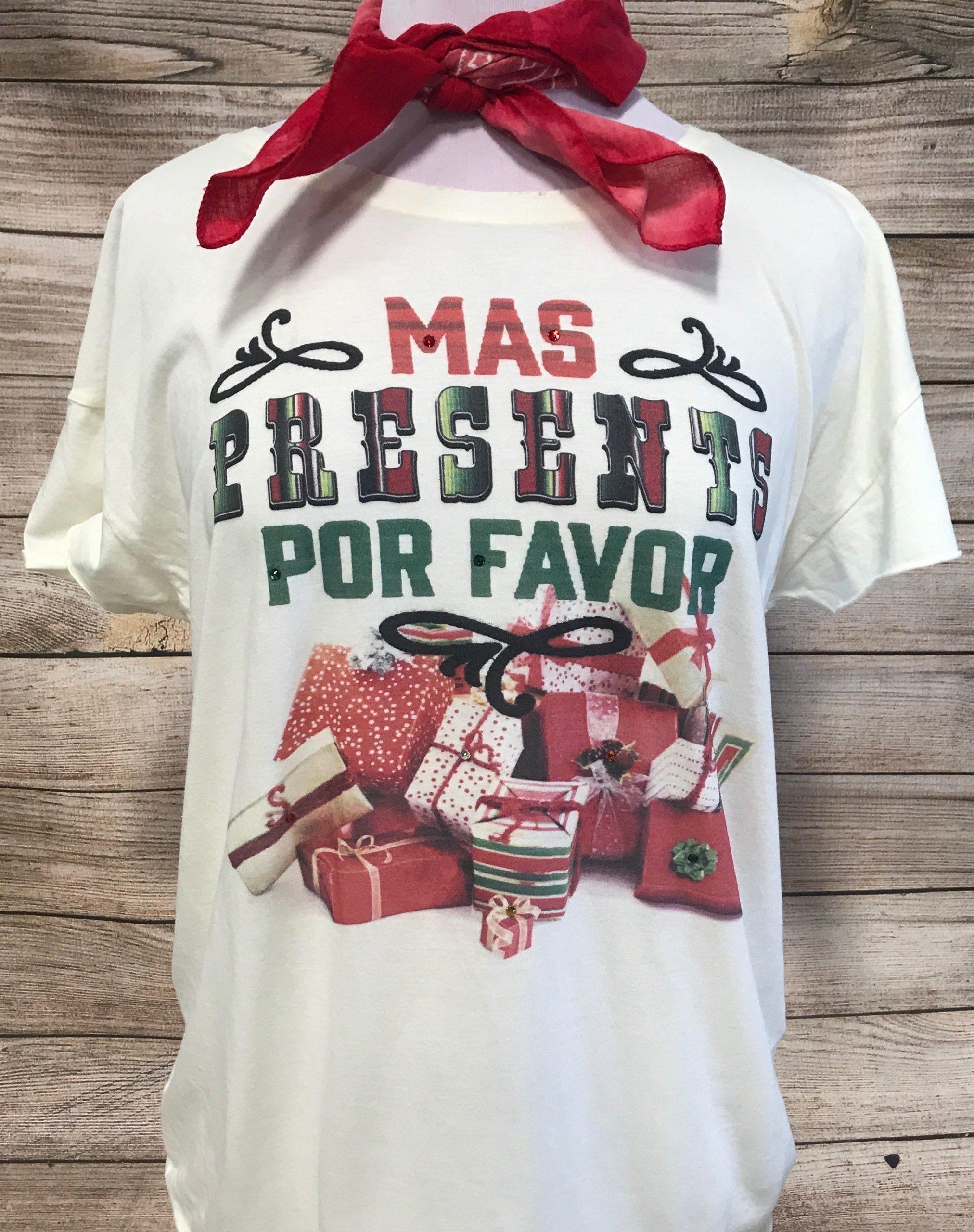 Mas Presents Por Favor on Cream Rocker Tee