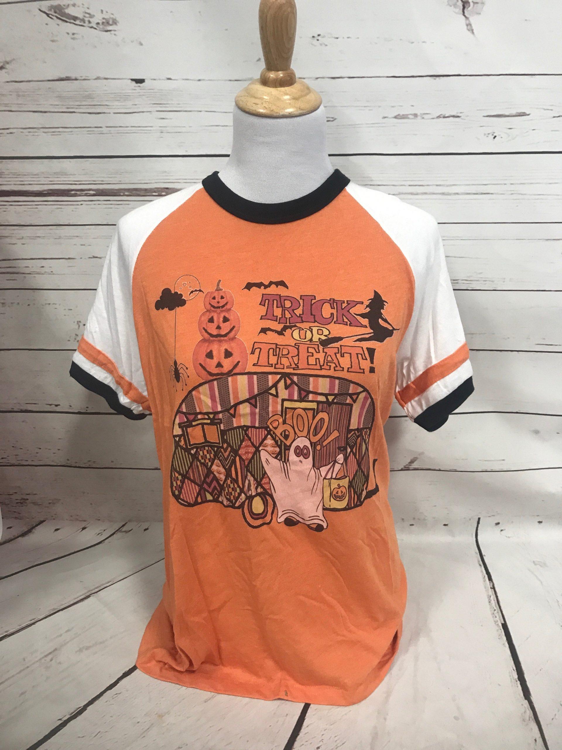 Halloween Camper on Orange Jersey Tee