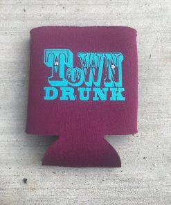 Town Drunk on Purple Koozie