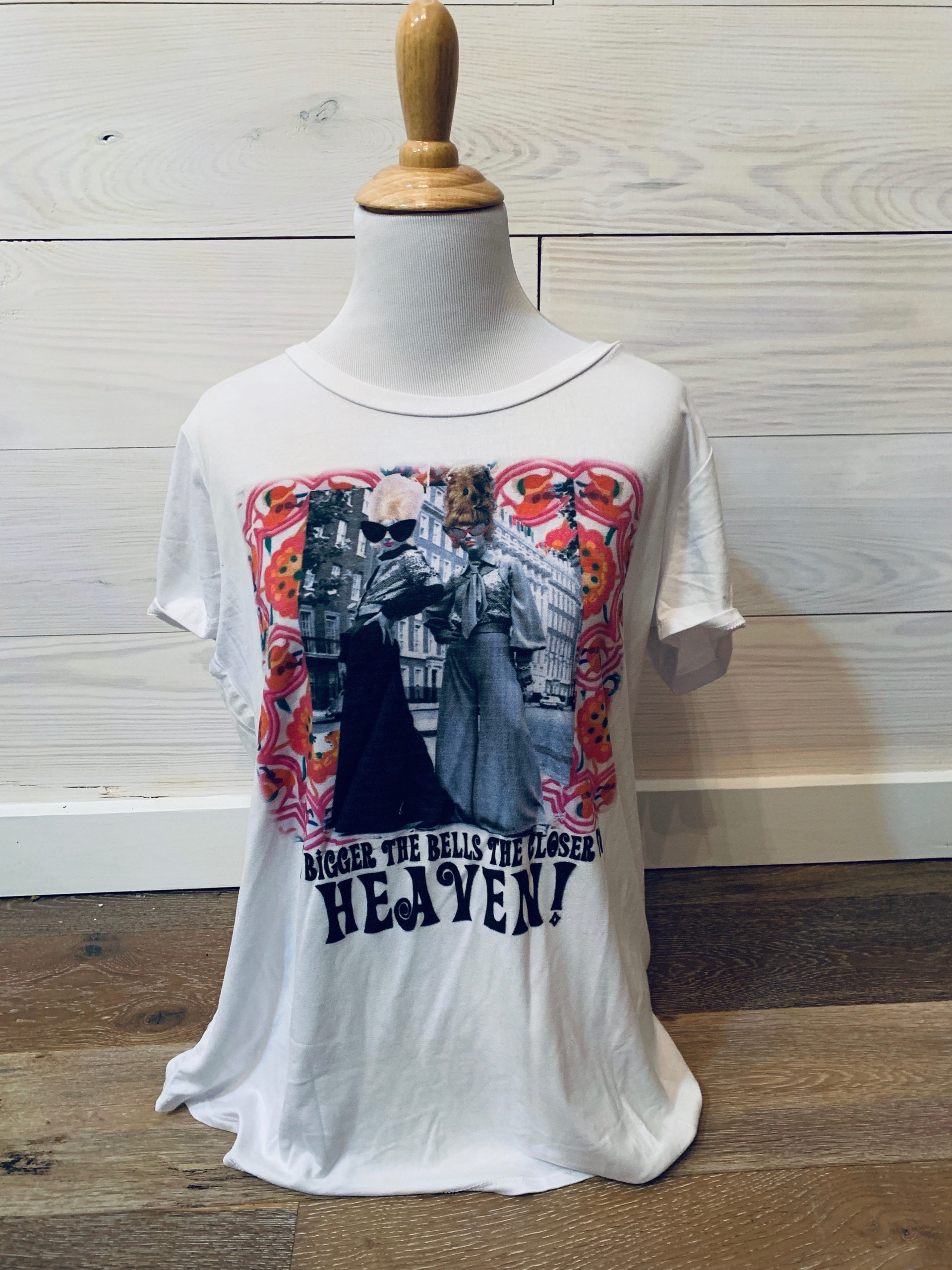 Bigger The Bells Closer to Heaven White Slouch Tee