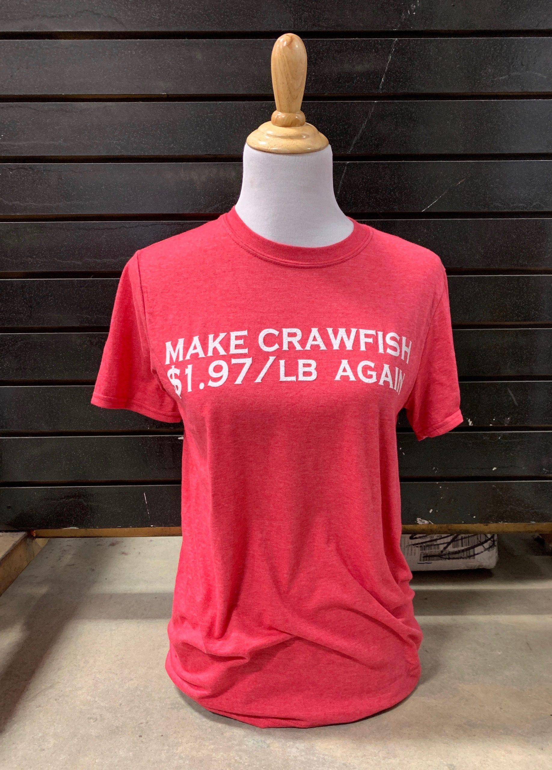 Make Crawfish $1.97/Lb. Again on Red Tee