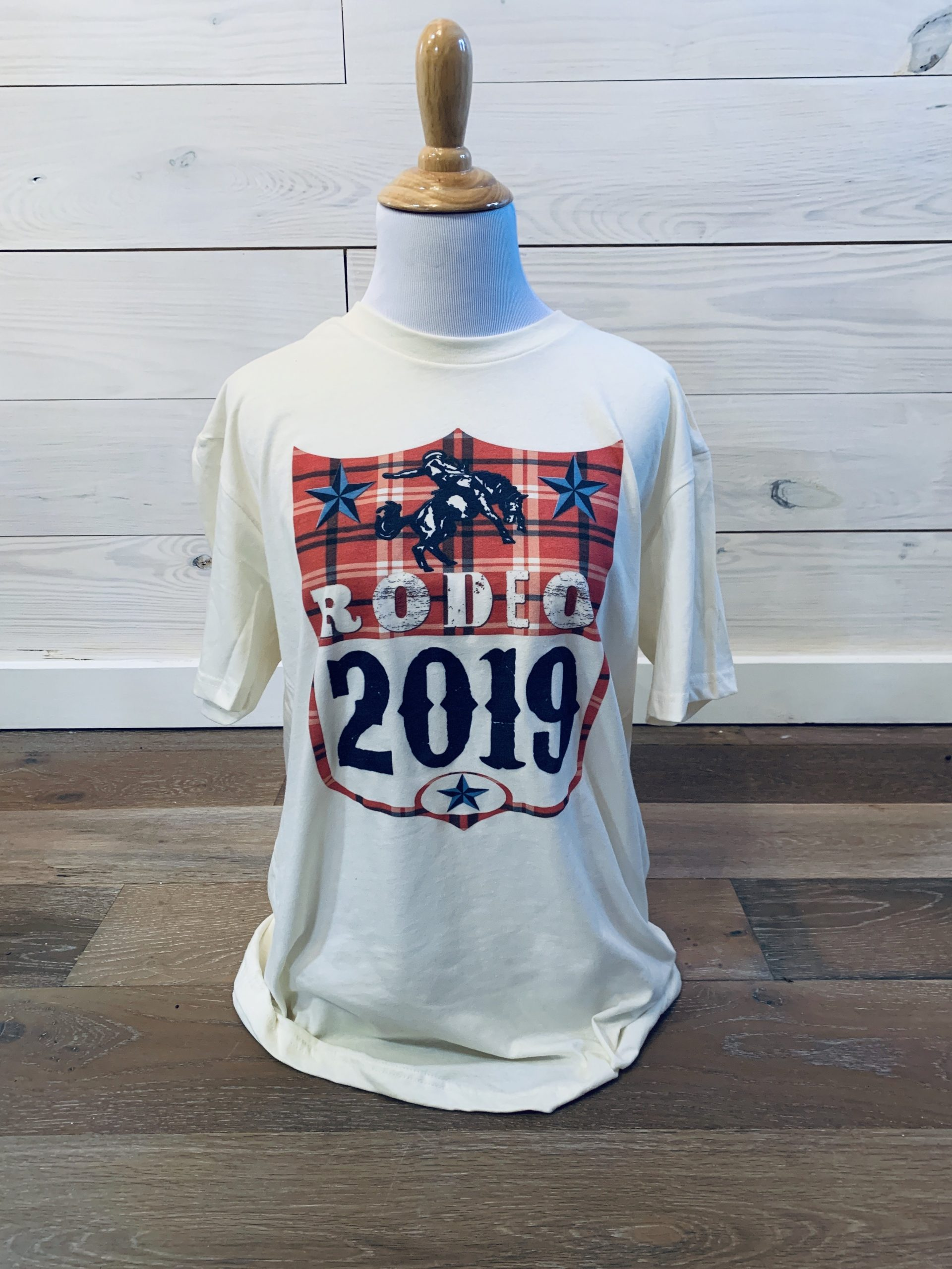 Rodeo 2019 on White Unisex Tee