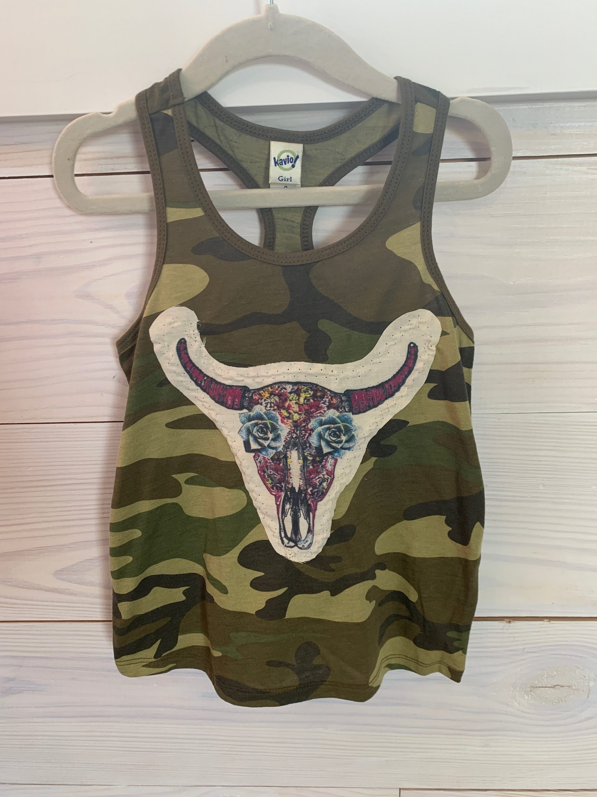 Succa Skull Pink on Camo Youth Tank