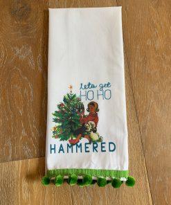 Let's Get Ho Ho Hammered Tea Towel