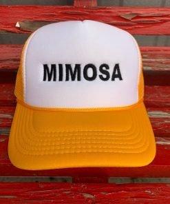 Orange Mimosa Hat
