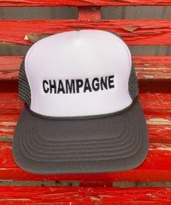 Grey Champagne Hat